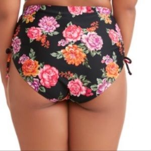 Terra & Sky Swim - Terra & Sky Women's Plus Floral Swimsuit Bottoms